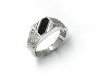 """Перстень серебро """"Полночь"""""""