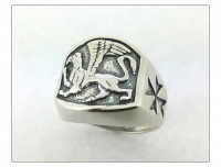"""Кольцо серебро """"Грифон"""""""