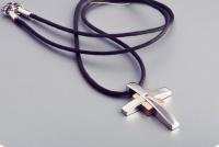Кулон крест сталь UGL 258